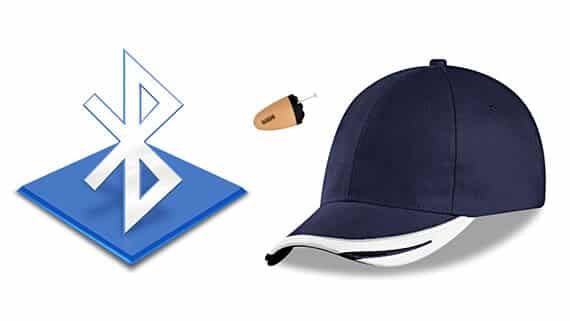 Image result for Spy Bluetooth Cap Earpiece Set