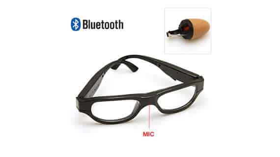 Spy-Bluetooth-Glasses-Earpiece-Set