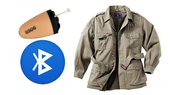 Spy-Bluetooth-Jacket-Earpiece-Set